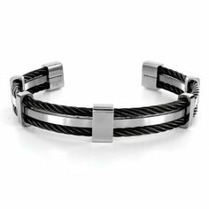 Stainless Steel Cable Cuff Bracelet West Coast Jewelry. $52.94