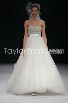 US $197.59 Glamorous Empire Sweetheart Floor-length Sweep Beaded Wedding Dresses