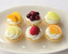 Fresh Fruit Tarts (ceramic plate is not included in sale)