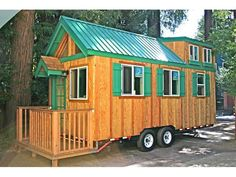 Tiny House From Molecule Tiny Homes.  I'm so in love with this one!