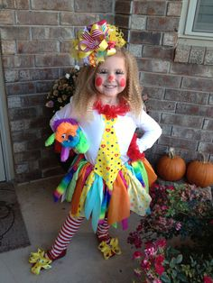 Colorful Clown costume for girls.