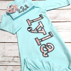 d62d25242b66 Baby Girl Coming Home Outfit - Newborn Sleeper - Aztec Baby Gown - Baby  Shower Gift for Girl - Bring Home Outfit - Name Gown gray mint