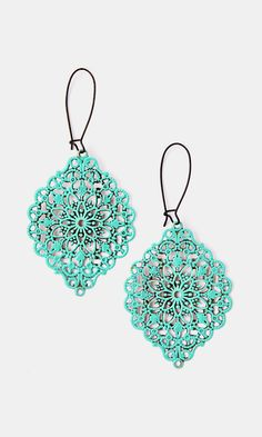 Aqua Eye Catcher Drop Earrings