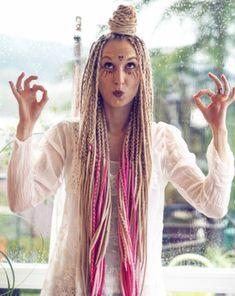 """She is delightfully chaotic; a beautiful mess. Loving her is a splendid adventure."" -Steve Maraboli-  #crueltyfree #wooldreads by :www.etsy.com/shop/KatinkaDreads  Installation: www.youtube.com/watch?v=0yJZHnKiyMI  photo: @flybyfranzi ♥  #wooldreadlocks #wolldreads #wolldreadlocks #dreads #dreadlocks #braids #locs #fauxlocs #fakedeads #blondedreads #blondegirls #rastas #dreadstagram #blonde #dreadmodel #girlswithdreads #dreadstyles #hairstyles #extensions #dreadextensions #etsy #etsyshop"
