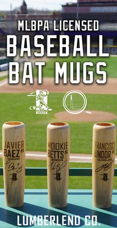 Officially licensed with the Major League Baseball Player's Association (MLBPA)! Pick out one of our new designs for your favorite player(s). These bat mugs are perfect gift for the die hard fans!