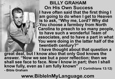 love and pray for the efforts of BGEA! Hope this quote from Rev.Billy Graham is an encouragement to you, and your loved ones. Please, share with others! Billy Graham Family, Billy Graham Quotes, Best Freinds, Jeremiah 1, Kings Of Israel, Spiritual Advisor, Abba Father, You Are Blessed