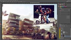 Architectural Rendering Tutorial - Post Production in Photoshop - Inserting People