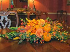 Fall Dinner Party | Selecting & Arranging Autumn Flowers #diy