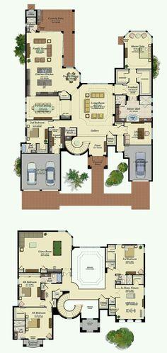 ,The Oaks at Boca Raton - Lot Sims House Plans, House Layout Plans, Family House Plans, New House Plans, Dream House Plans, Modern House Plans, House Layouts, House Floor Plans, My Dream Home
