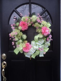 Spring Wreath for Front Door Mother's Day Gift by ABlossomShop