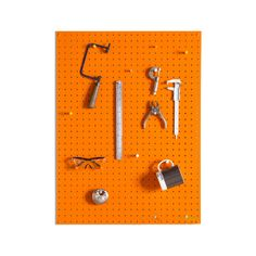 Block's fabulous orange pegboard is the ideal vehicle for your creativity