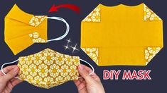 Easy Face Masks, Face Masks For Kids, Diy Face Mask, Sewing Paterns, Pattern Sewing, Sewing Tutorials, Sewing Projects, 3d Face, Beautiful Mask