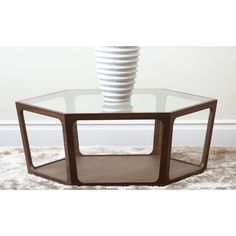 Abbyson Living Verona Walnut Coffee Table   Overstock.com Shopping - The Best Deals on Coffee, Sofa & End Tables