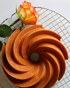 This is simply beautiful, isn't it?  Vanilla Velvet Bundt Cake with White Rum Glaze. From Jane's Sweets & Baking Journal.