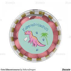 Cute Edmontosaurus Chewing Gum Favors #dinosaur #party #candy #pink #edmontosaurus