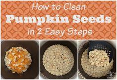 How to Clean Pumpkin Seeds (a revelation how to clean p. How to Clean Pum Pumpkin Seed Recipes Baked, Flavored Pumpkin Seeds, Pumkin Seeds, Toasted Pumpkin Seeds, Baked Pumpkin, Yummy Snacks, Yummy Treats, Perfect Pumpkin Seeds, Play Dough
