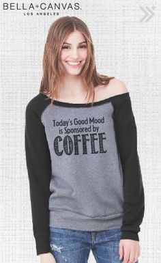 81796763e6ba CLEARANCE LARGE Coffee Sponsored Off The Shoulder Sweatshirt