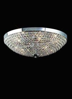 Plafón de techo 55 cm Crystal 4610 Mantra [4610] - 292,22€ :