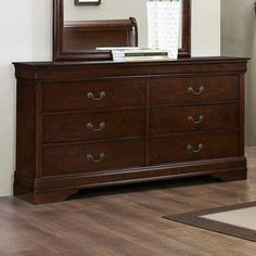 I love this fabulous photo #greybedroomfurniture 7 Drawer Dresser, Dresser With Mirror, Furniture Making, Bedroom Furniture, Traditional Trends, Dovetail Drawers, Double Dresser, Metal Drawers, Traditional Bedroom