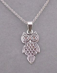 925 Sterling Silver Wide Eyed Owl Pendant Necklace Jewelry NEW #unbranded #Pendant