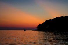 Sunset at the coast of Pula