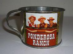 Vintage Bonanza Western TV Show Ponderosa Ranch Cup
