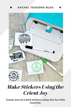 How to Make Stickers Using the Cricut Joy
