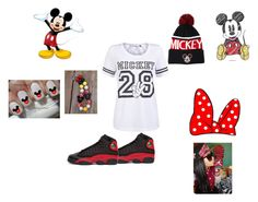"""mickey mouse"" by thenamebemahni ❤ liked on Polyvore featuring ONLY, Disney, Forever 21, NIKE, women's clothing, women, female, woman, misses and juniors"