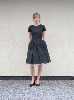 Little Black Organic T Shirt Dress  made to order by makemeadress, £180.00