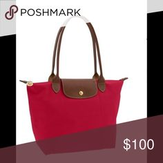 Small le pliage tote Red garance small le pliage shoulder bag/tote. Excellent condition. Longchamp Bags Totes