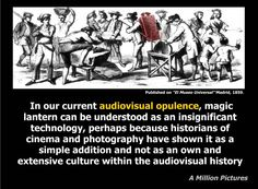 A Million Pictures - European Research Project. The culture of Magic Lantern and the connections with Digital Culture Screen 3 of 12