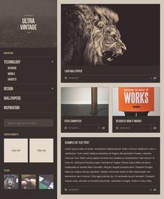 ultra vintage / ultralinx » web design template