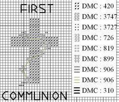 la prima comunione (schema croce) Blackwork Cross Stitch, Cross Stitch Embroidery, Cross Stitch Patterns, Embroidery Cards, Religious Cross, First Communion, New Hobbies, Filet Crochet, Quilt Blocks