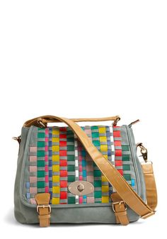 Love the colors and neutrals. Can be a handbag or shoulder bag.