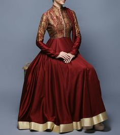 Red Full Length Gown with Bottom & Dupatta with Astar.    http://www.winsant.com/product/red-broket-full-lenth-dress17353