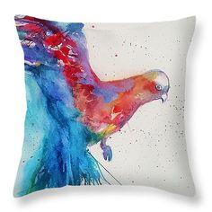 Parrot Pillow Decorative Pillow Home Decor by StudioEmmaKaufmann
