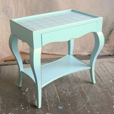 Sydney Barton - Painted Furniture: Torquoise Cabriole Occasional Table