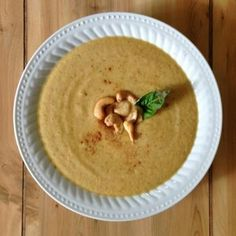 Curry Cashew Cauliflower Soup