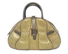 Christian Dior Green Ostrich Leather Bag - goalsBox™