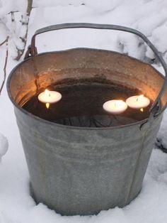 Valkoista pellavaa Fire Pit, Outdoor Decor, Decor, Light, Candles, Home Decor