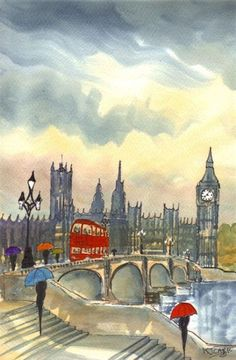 Rainy Day London~Westminster Evening @@@@@......http://www.pinterest.com/martacraft/united-kingdom/