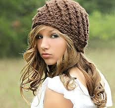 Brown Beanie Hat Beanies Chunky Hat for Women Teen Girl Fall Fashion Winter  Fashion Swirl Hat Cute Brown Hat Crochet Hat by Forever Andrea by  foreverandrea ... d1acfe60418