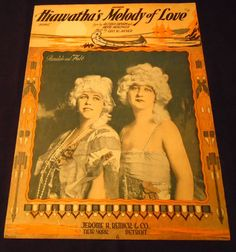 HIAWATHA'S Melody of Love Song 1920 Sheet Music by OldeBookShop
