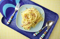 Lightened Up Spaghetti Carbonara on Weelicious