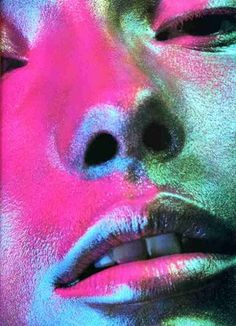 Touches of #neon colour inspire #AW2012 petrol metalic make up - Solve Sundsbo photography