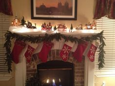 Christmas village mantle by Karen Bentley