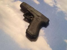 Fondant Glock Cupcake Toppers Edible Gun Hunter by GiftsbyLaney, $30.00