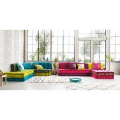 Modulare 6-Sitzer Eckpolsterbank aus Baumwolle, rosa Kimimoi   Maisons du Monde