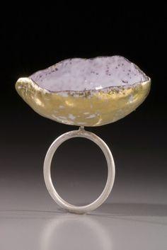 Rei Harada,  sterling silver, copper, enamel, gold