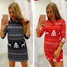 Awesome Awesome Winter Ladies  Long Sleeve Bodycon Evening Party Cocktail Christmas Dress FU 2018